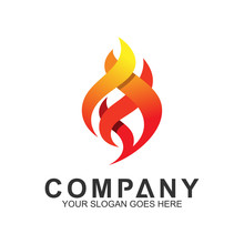 Fire Logo Design Template, Abs...