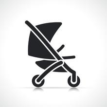 Vector Stroller Icon Symbol Design