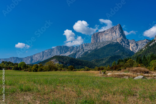 Mont Aiguille in the French Vercors mountains in France Canvas Print