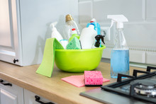 Different Items For Cleaning Y...