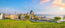 Panoramic View Of Quebec City Skyline In Canada