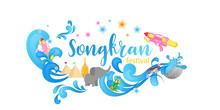 Songkran Festival Celebration Thailand Holiday Background