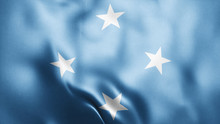 3d Rendered Realistic Fabric Shiny Silky Waving Flag Of Micronesia Federated States 8K Illustration Flag Background Micronesia Federated States National Flag