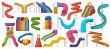 Water Slide Vector Cartoon Set...