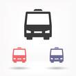 Bus vector icon , lorem ipsum Flat design