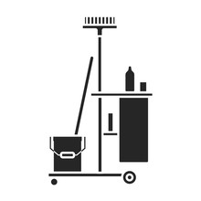 Cleaning Of Trolley Vector Ico...