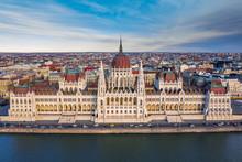 Budapest, Hungary - Aerial Dro...