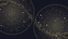 Poster Witn Star Constellation...