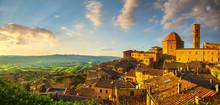Tuscany, Volterra Town Skyline...