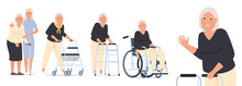Grandmother In A Wheelchair, G...