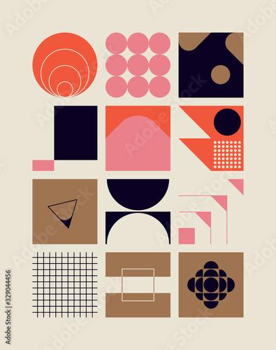 Leinwand Poster Scandinavian Artwork Vector Pattern Design