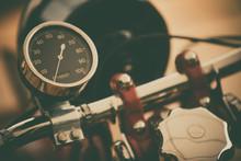 Speedometer Gauge Of A Vintage...