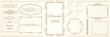 ヨーロッパ調のオーナメント・飾り罫・飾り囲み・背景テンプレート素材セット|ビンテージ・レトロ|Decorative border