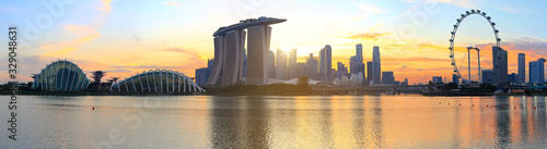 city skyline of Singapour, attractive and mordern city of south east asia Fotobehang