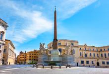 Dioscuri Fountain In Rome