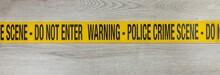 Yellow Plastic Police Crime Sc...