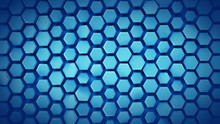 Blue Geometric Background With...
