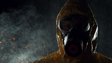 Man In Chemical Suit With Resp...