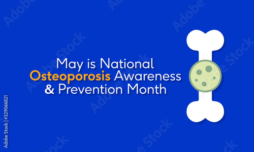 Valokuva Vector illustration on the theme of National Osteoporosis Awareness and prevention month of May