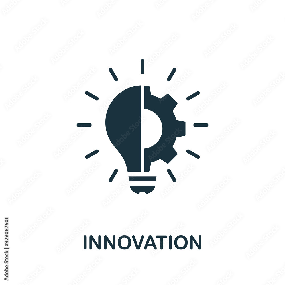 Fototapeta Innovation icon. Simple element from digital disruption collection. Filled Innovation icon for templates, infographics and more