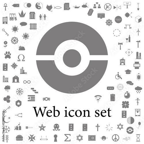 pokeball icon. web icons universal set for web and mobile фототапет