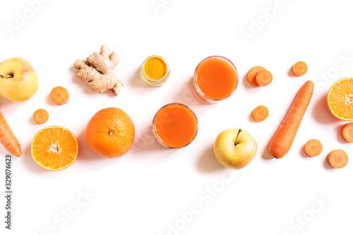 Obraz Detox cleanse orange drink - fototapety do salonu