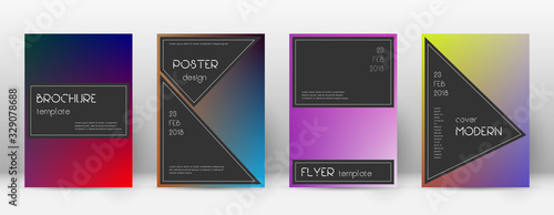 Photo Flyer layout. Black bizarre template for Brochure,