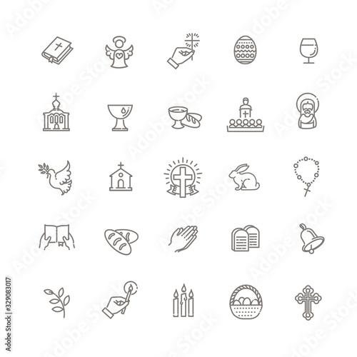 Fotografia Christianity icon set