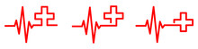 Heartbeat With Medical Cross. ...