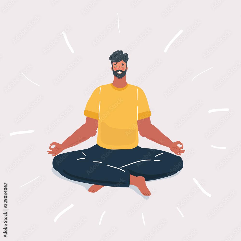 Fototapeta Man Doing Yoga