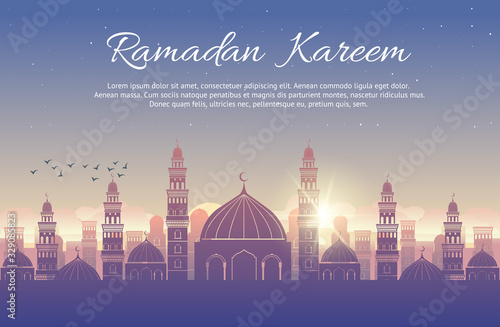 Photo Background design for Muslim festival eid Mubarak