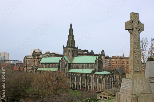 Glasgow Cathedral from the necropolis, Scotland