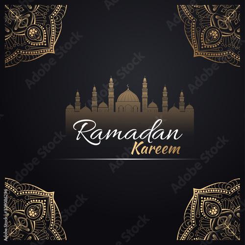Background design for Muslim festival eid Mubarak Canvas Print