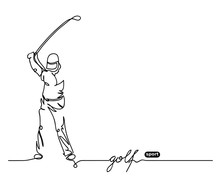 Golf Player Simple Background....