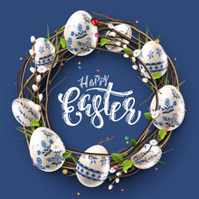 Modern Easter Folk Background