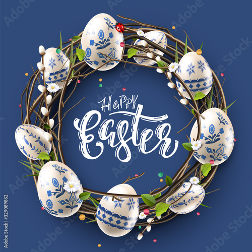 Foto Modern Easter folk background