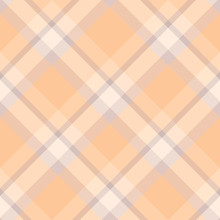 Seamless Pattern In Awesome Pastel Orange, Beige And Grey Colors For Plaid, Fabric, Textile, Clothes, Tablecloth And Other Things. Vector Image. 2