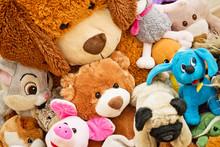 Many Soft Plush Fluffy Toys Si...