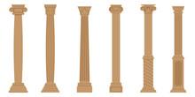 Vector Set Of Ancient Columns....