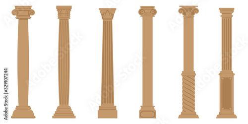 Cuadros en Lienzo Vector set of ancient columns