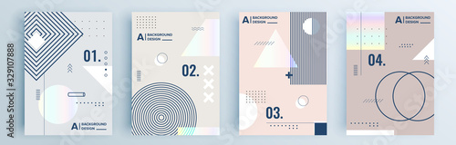 Valokuvatapetti Modern abstract covers set, minimal covers design