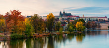 Prague Autumn Landscape. Pragu...