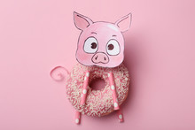 Funny Pig Made With Donut And ...
