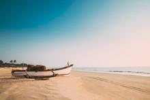 Goa, India. Old Wooden Fishing...
