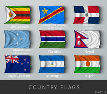 Riveted The Country Flag Wrink...