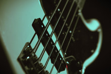 Bass Guitar And Strings Close-up