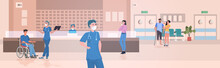 Busy Nurses Station Doctors An...