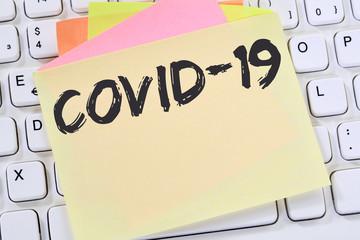 COVID-19 COVID Corona virus coronavirus disease ill illness health care message business concept