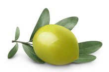 Close-up Of Green Olive With O...