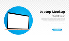 Mockup Laptop With Blank Scree...